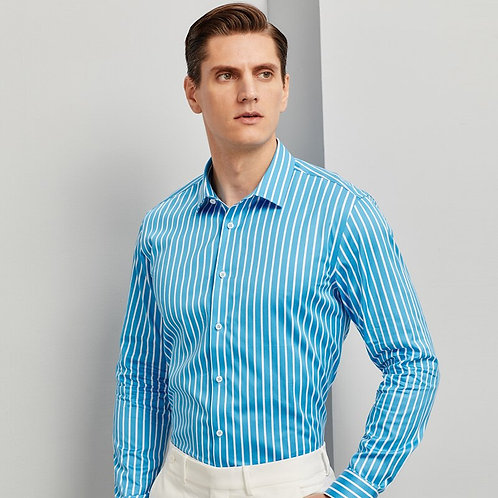 100% Cotton Fashion Color Striped Shirts for Men