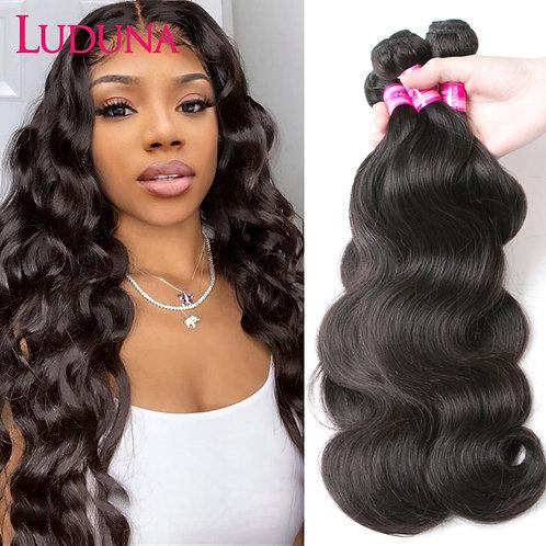 150% Human Hair Weave 1/3/4 Piece Non-Remy Hair