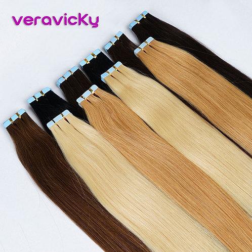 Human Hair Extensions Natural Real Hair 20/40pcs