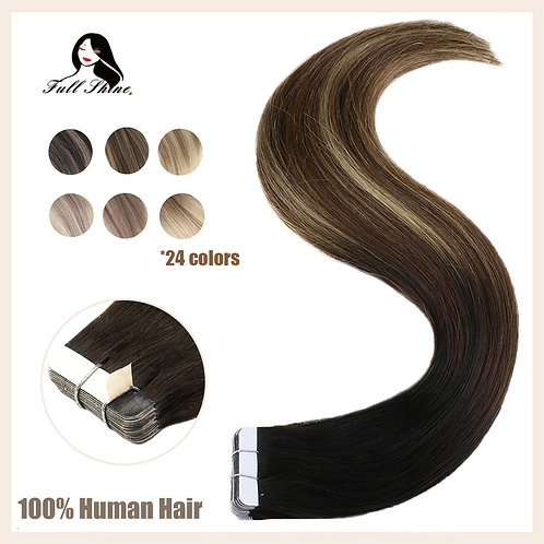 Human Hair Extensions Invisible Hair Tapes