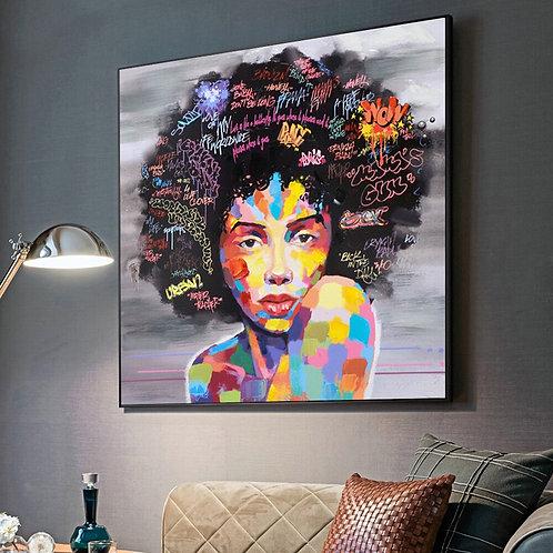 Abstract African Wall Art Canvas Modern Graffiti Art Paintings Black Woman