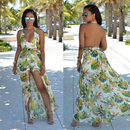 2018 African Kitenge Dress Designs Sexy Women Chiffon Maxi Dresses