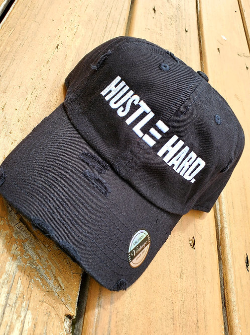 Black & White Dad Hat (Distressed)
