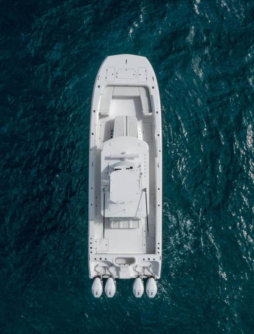 37' Center Console Invincible Catamaran Top View