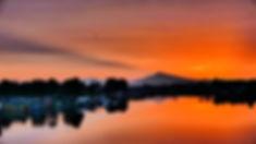 Mount Hood Sunrise & House Boats