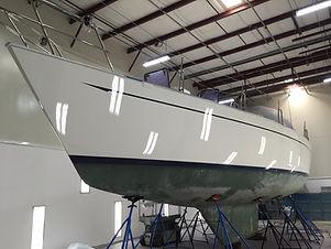 Sailboat with a shiny new paint job.