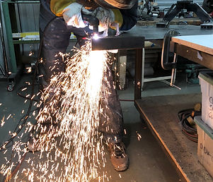 Plasma cutting metal