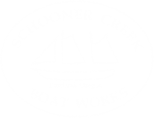 White Schooner Creek Boat Works Portland Oregon Logo