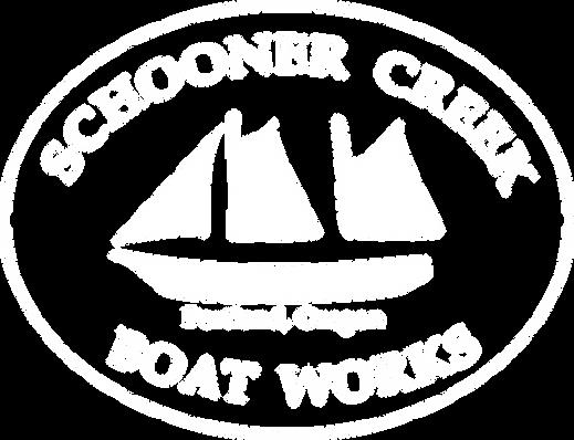 White Schooner Creek Boat Works Portland Oregon Logo