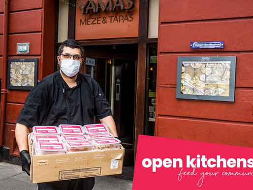 We have joined #OpenKitchens - providing free meals to the vulnerable during the COVID-19 outbreak