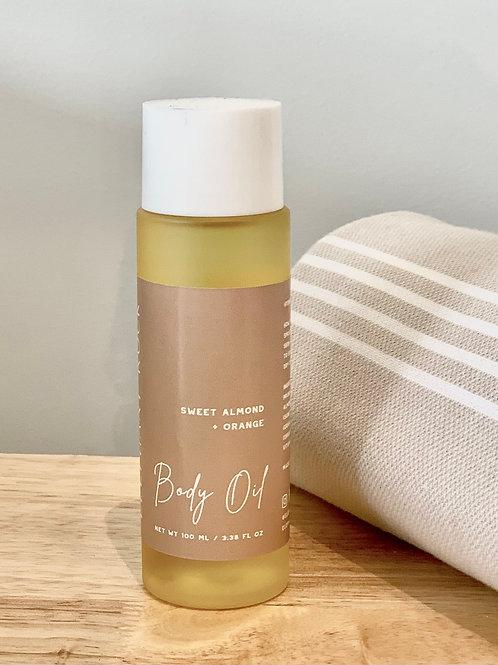 Body Oil - Sweet Almond & Orange