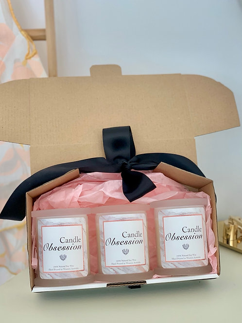 Natural Soywax Candles Trio Gift Set