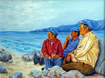 Fisherman of Santorini