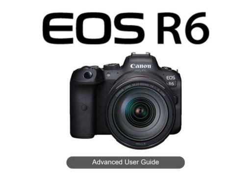 Manual da Canon EOS R6 disponível para download