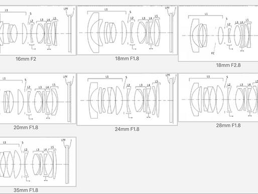 A nova patente Sigma divulga 7 novas lentes de montagem tipo E Full Frame.