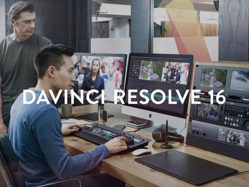 Lançamento do DaVinci Resolve 16.2.1