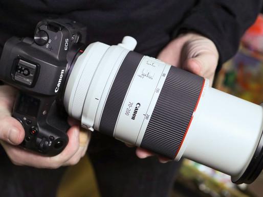 A Canon RF 70-200mm f/2.8L tem problemas de foco.