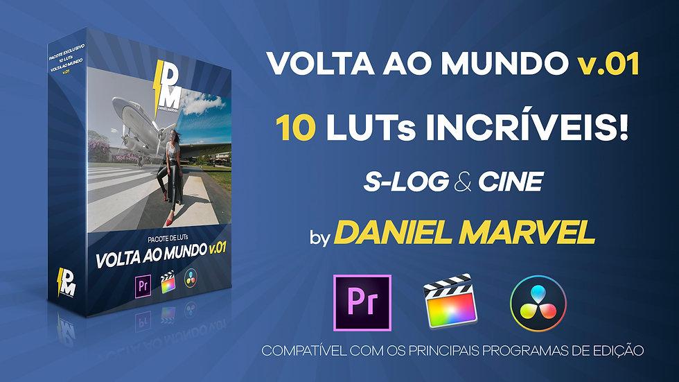 PACOTE COM 10 LUTs VOLTA AO MUNDO v.01