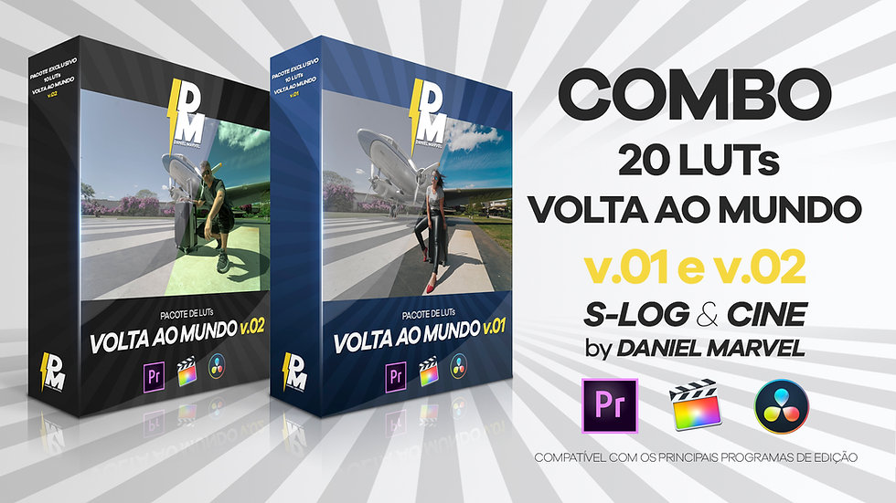 COMBO COM 20 LUTs VOLTA AO MUNDO v.01 e 02