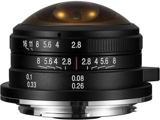 Lente Fisheye Laowa de 4 mm f/2.8 agora disponível para montagens Sony E, Fuji X e Canon EF-M