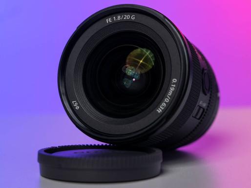 Lente Sony 20mm f/1.8 FE G anunciada oficialmente!