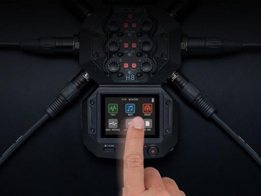 Anunciado ZOOM H8 - Gravador de áudio multiuso