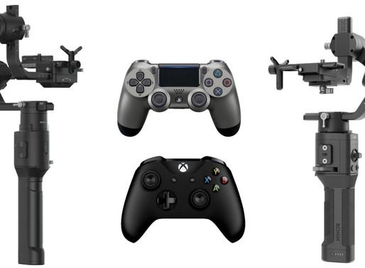 DJI Ronin-S e Ronin-SC agora suportam controle remoto do PS4 e Xbox