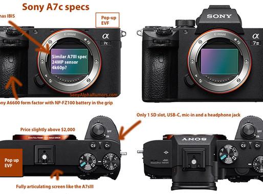 """CONFIRMADO: A próxima nova câmera compacta Full-Frame E-mount se chamará """"Sony A7c"""""""