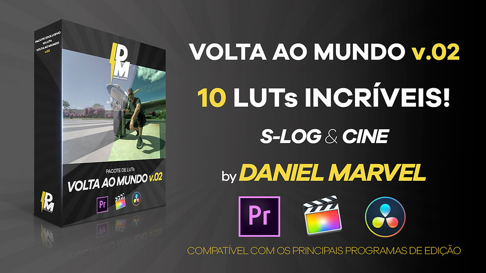 PACOTE COM 10 LUTs VOLTA AO MUNDO v.02
