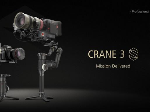 Zhiyun anuncia novo gimbal: CRANE 3S