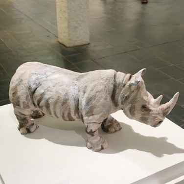 Northern White Rhino Sculpture