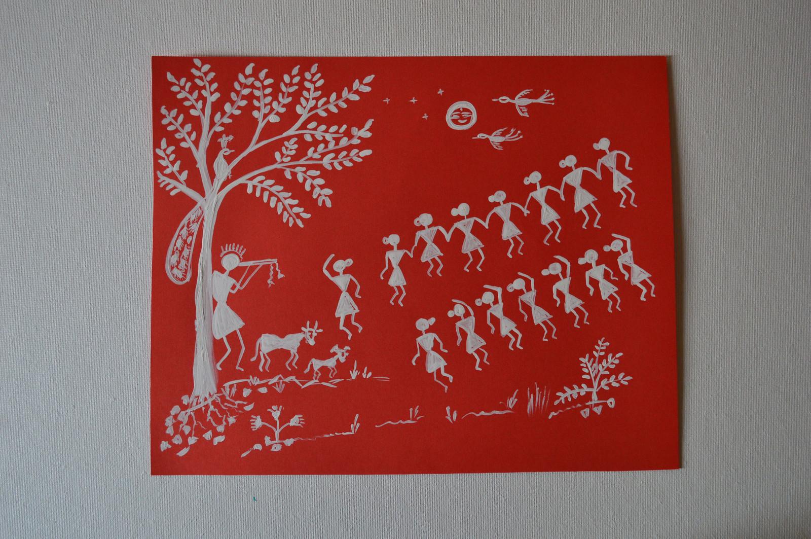 Warli Paintings on Artist Paper