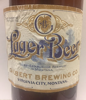 Gilbert Brewing Co Beer Label Virginia City, Montana