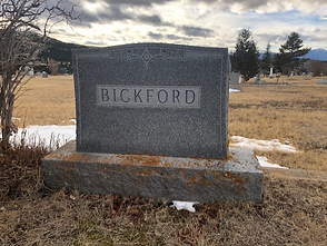 Sarah Bickford Headstone Hillside Cemetery Virginia City, Montana