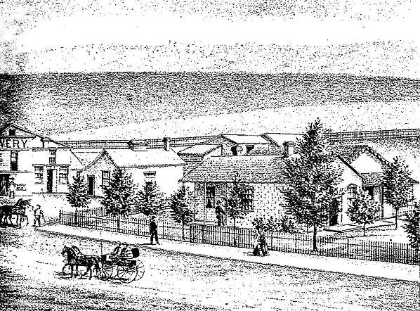 Gilbert residence artist rendering Virginia City, Montana
