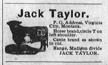 Jack Taylor's Madisonian ad 1902