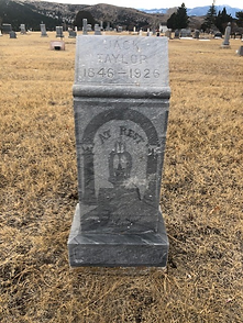 Jack Taylor headstone Hillside Cemetery Virginia City, Montana
