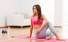 serious-woman-doing-relaxation-exercise-