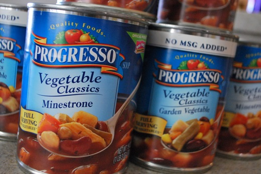 Soups & canned veggies