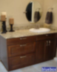 Traditional bathroom cabinetry.