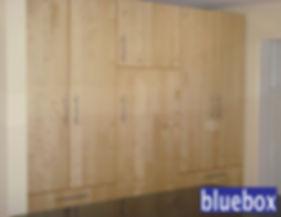 Custom office storage space.