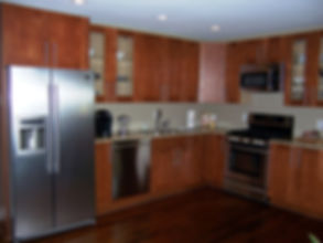 Kitchen cabinetry.