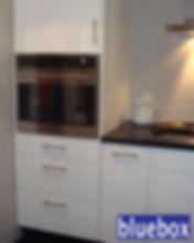 White IKEA kitchen cabinets.