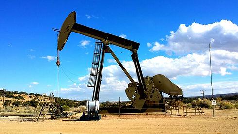 Oil Rig, blue sky
