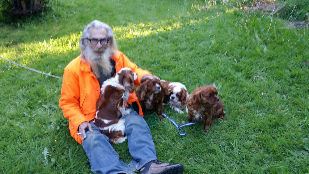 Rod and his puppies.jpg