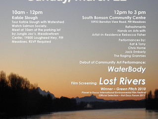 Making a Splash World Water Day March 22 in Pitt Meadows/Maple Ridge