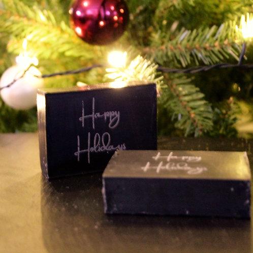 Zeepbar Happy Holidays - Zwart