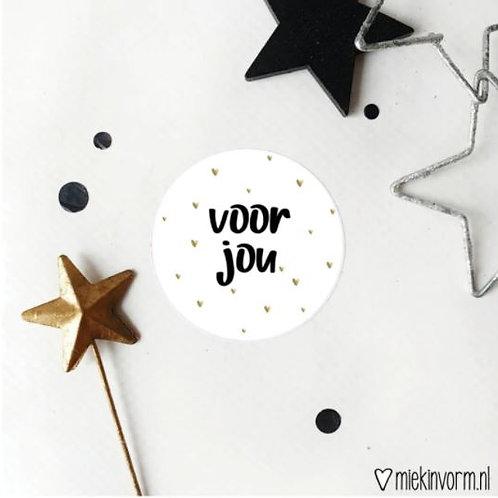 Sticker - Voor Jou - 10 stuks