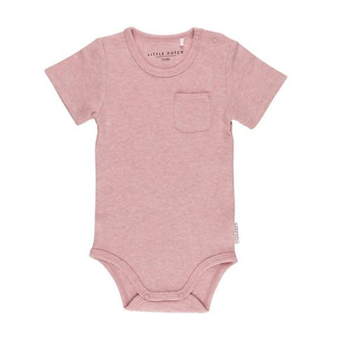 Romper Pink Melange - Korte mouwen - Little Dutch