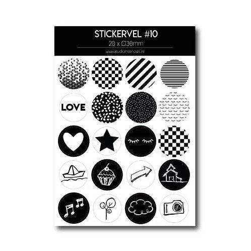 Stickervel - Monochrome